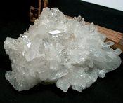 Brilliant Arkansas Rock Crystal Cluster with Vortex Charging Plate Record Keepers Rainbows SOLD