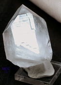 SOLD: Chubby Glyph Quartz Crystal, Ingrown Twin