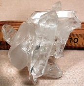 SOLD: Excellent Doubly-Terminated Diamond Windows Rainbow Crystal Cluster