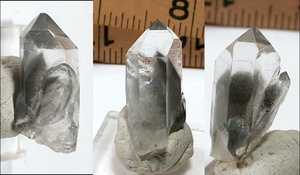 SOLD:  Excellent Ghosted Blue Phantom, Arkansas Companion Crystals
