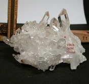 SOLD: Gem Clear Large Cabinet Arkansas Cluster with True DOW Crystal