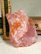 SOLD: Gem Pink South Dakota Rose Quartz Rough, Rainbows