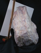 Massive XL Cabinet Rare California Lavender Rose Quartz Rough