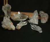 SOLD:  Parcel/Hugely Uncommon Iron Included Arkansas Crystals