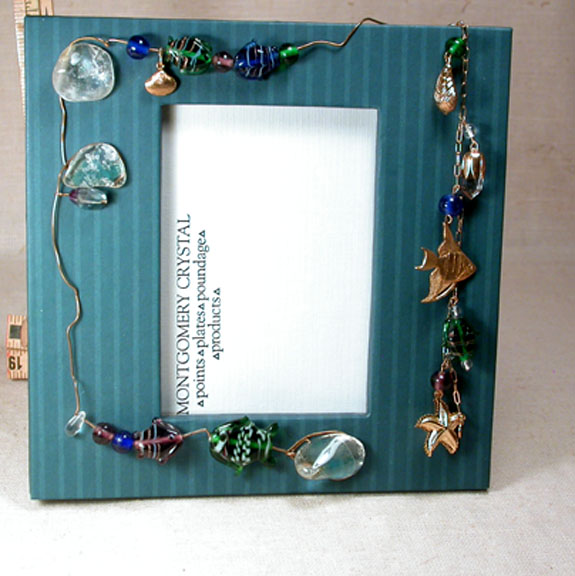 PRIZE CATCH - Handmade Jewelled Picture Frame With DETATCHABLE ...