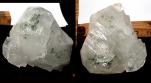 Showy Large Quantum Cluster, Green Chlorite and Rare Irises