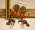 SOLD: BIMINI Clips - Rock Crystals, Ammonites, Tiger Eye, Copal, Pyrite, Brass, Horn