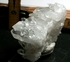 SOLD: Classic Rainbowed Arkansas Rock Crystal Plate Cluster, Curved Base