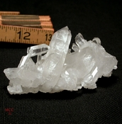 SOLD:  GLASS BACK Arkansas Rock Crystal Twins Cluster