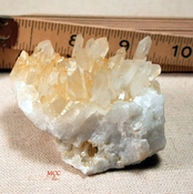 SOLD: Gleaming Yellow and White Arkansas Golden Healer Quartz Cluster