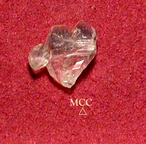 SOLD: NATURAL ROCK CRYSTAL HEART - Rainbow, too.