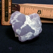 SOLD: Very Rare Yttrium Fluorite Harvested In A Natural Heart Shape
