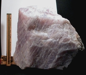 Very Gemmy Very Large Cabinet Rare California Lavender Rose Quartz Rough
