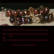 Your Choice of TITIAN Barrette - French Clip with Arkansas Golden Healer or Clear Rock Crystal and Freshwater Pearls