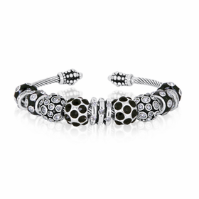 CZ Black and Silver Bracelet