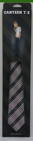 Canteen Tie Black Red White Plaid