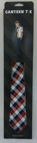 Canteen Tie Navy Red Grey Plaid