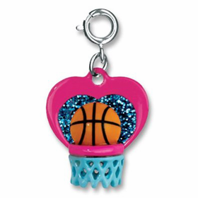 CHARM IT! I Love Hoops Basketball Charm