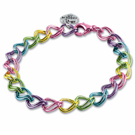 CHARM IT! Multi-Colored Double Link Bracelet