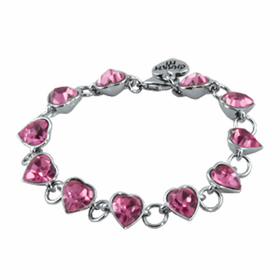 CHARM IT! Pink Acrylic Heart Bracelet