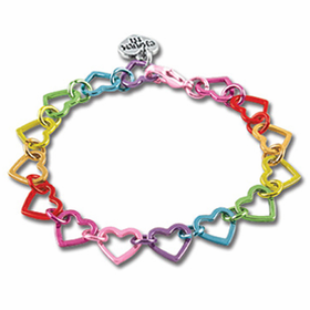 CHARM IT! Rainbow Heart Bracelet