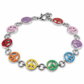CHARM IT! Rainbow Peace Bracelet