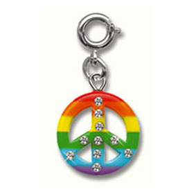 CHARM IT! Rainbow Peace Charm