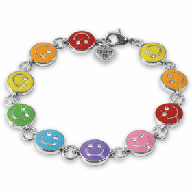 CHARM IT! Rainbow Smiley Bracelet