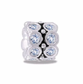 DAVINCI BEADS APRIL CZ WHEEL BIRTHSTONE