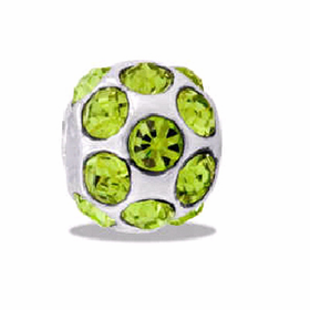 DAVINCI BEADS AUGUST CZ BALL BIRTHSTONE