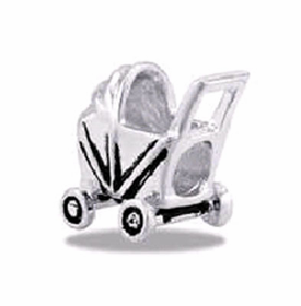 Davinci Beads Baby Buggy Silver