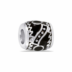 Davinci Beads Black Abstract