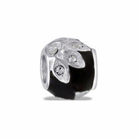 Davinci Beads Black CZ Flower