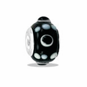 Davinci Beads Black Knob Art Glass