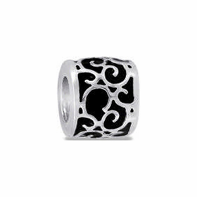 Davinci Beads Black Scroll