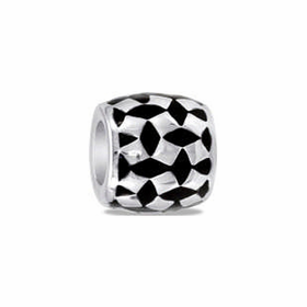 Davinci Beads Black Silver Diamond
