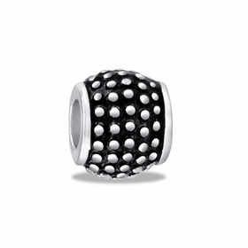 Davinci Beads Black Silver Dots