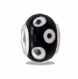 Davinci Beads Black Spotted Art Glass