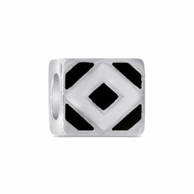 Davinci Beads Black White Diamond