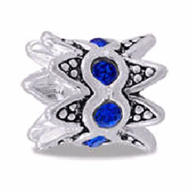Davinci Beads Blue CZ Crown