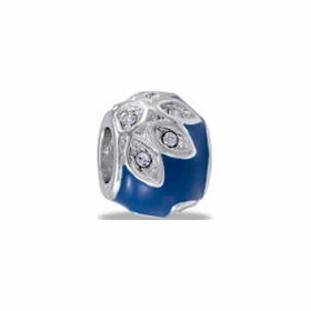 Davinci Beads Blue CZ Flower
