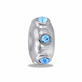 Davinci Beads Blue CZ Stopper