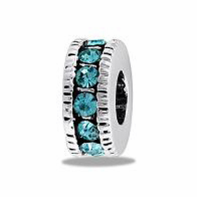Davinci Beads Blue CZ Wheel