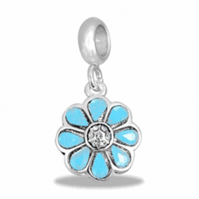Davinci Beads Blue Flower
