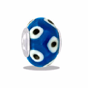Davinci Beads Blue Spotte Art Glass