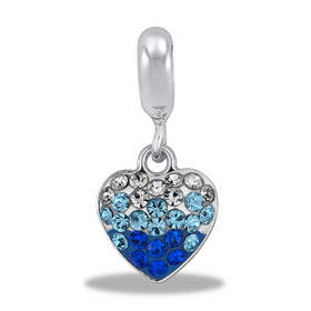 Davinci Beads Blue Transition Heart
