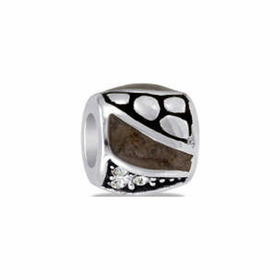 Davinci Beads Brown and Black CZ