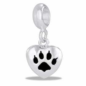 Davinci Beads Cat Paw Heart