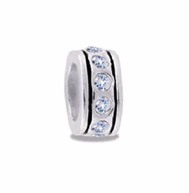 Davinci Beads Clear Small CZ Wheel