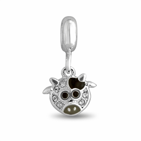Davinci Beads Cow Crystal Dangle